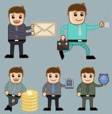 Diversos conceptos - oficina y hombres de negocios del personaje de dibujos animados del vector del concepto del ejemplo Fotos de archivo libres de regalías