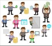 Diversos conceptos y actitudes - oficina y ejemplo del vector del personaje de dibujos animados del negocio Fotos de archivo