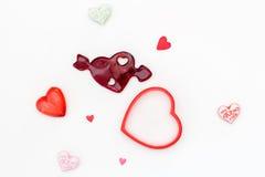 Diversos corações diferentes em um fundo branco Fotografia de Stock