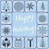 Diversos diseños de la Navidad Fotos de archivo