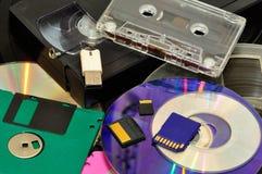 Diversos dispositivos de la grabación Fotografía de archivo