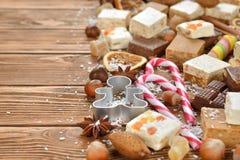 Diversos dulces de la Navidad Foto de archivo