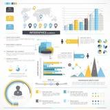 Diversos elementos del infographics del negocio Imagenes de archivo