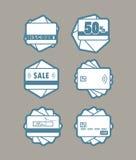 Diversos emblemas del sistema del vector de las tarjetas del plástico Imágenes de archivo libres de regalías