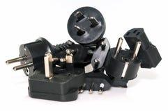 Diversos enchufes eléctricos Fotografía de archivo