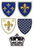 Escudos de la flor de lis Imagenes de archivo