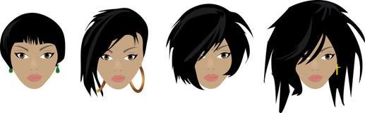 Diversos estilos de pelo Imagen de archivo