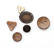 Diversos forma o botones Fotografía de archivo libre de regalías