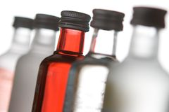Diversos frascos de vidro Foto de Stock