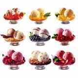 Diversos helados, collage Fotos de archivo libres de regalías