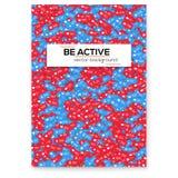 Diversos iconos de la medios actividad social de la red Sea activo Cartel de motivación del vector, diseño de la cubierta Notific libre illustration