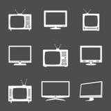 Diversos iconos de la TV Fotografía de archivo
