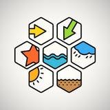 Diversos iconos del interfaz del web del color libre illustration