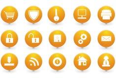 Diversos iconos del sitio web Imagen de archivo libre de regalías