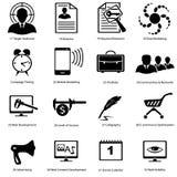 Diversos iconos para los diseñadores avanzados Fotografía de archivo libre de regalías