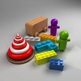 Diversos juguetes Imagen de archivo libre de regalías
