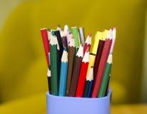 Diversos lápices Foto de archivo libre de regalías