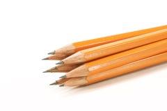 Diversos lápis de madeira Fotografia de Stock Royalty Free