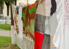 Diversos mantones coloridos Fotografía de archivo libre de regalías