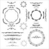 Diversos marcos en un fondo blanco para el uso decorativo Fotos de archivo libres de regalías