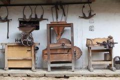 Diversos molinos muy viejos Fotografía de archivo libre de regalías