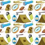Diversos objetos que acampan libre illustration