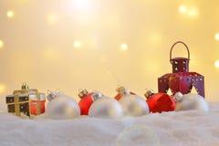 Diversos ornamentos de la Navidad Fotos de archivo libres de regalías