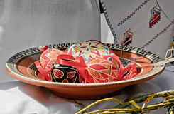 Diversos ovos da páscoa ucranianos Imagens de Stock Royalty Free