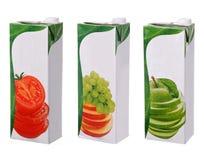 Diversos paquetes de los jugos Fotografía de archivo