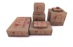 Diversos paquetes del tamaño Fotografía de archivo