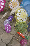 Diversos paraguas fotografía de archivo