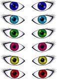 Diversos pares de olhos Ilustração Royalty Free