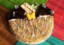 Diversos pedazos de torta Foto de archivo
