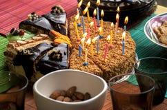Diversos pedazos de torta Fotografía de archivo