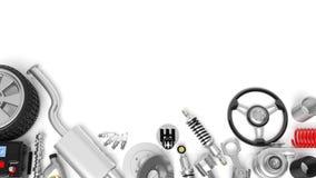 Diversos piezas y accesorios del coche stock de ilustración