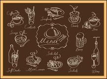 Diversos platos Imagen de archivo