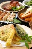Diversos platos japoneses Imagen de archivo libre de regalías