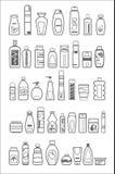 Diversos productos cosméticos Foto de archivo