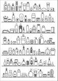 Diversos productos cosméticos para el cuidado personal Fotografía de archivo libre de regalías