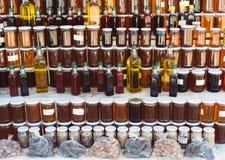 Diversos productos orgánicos hechos en casa fotografía de archivo libre de regalías