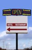 Diversos quadros de avisos do hotel-restaurante-almoço-comensal imagens de stock royalty free