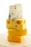 Diversos quesos Imagen de archivo libre de regalías