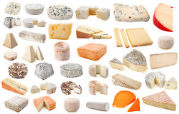 Diversos quesos Fotografía de archivo