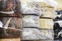Diversos quesos Foto de archivo