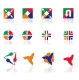 Diversos símbolos abstractos para el diseño Imagen de archivo