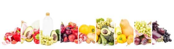 Diversos sistemas de comida sana, aislados en blanco fotografía de archivo