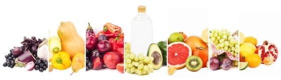 Diversos sistemas de comida sana, aislados en blanco fotos de archivo libres de regalías