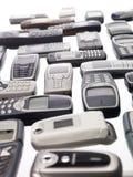 Diversos telemóveis Imagens de Stock