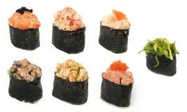 Diversos tipes del sushi Imagen de archivo libre de regalías