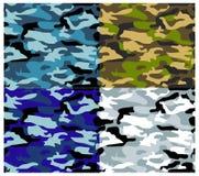 Diversos tipos camuflaje del vector Imágenes de archivo libres de regalías